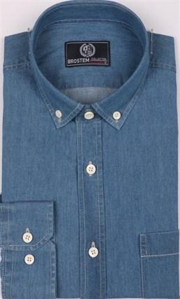 Рубашка джинсовая BROSTEM 1LBM15-2 полуприталенная - фото 11687
