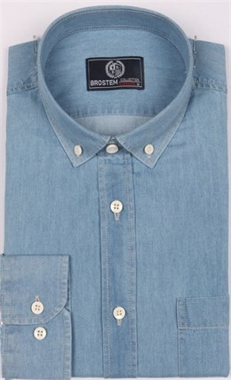 Рубашка джинсовая BROSTEM 1LBM15-3 полуприталенная - фото 11689