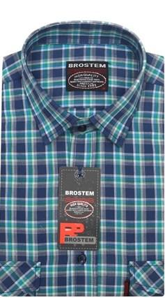 Рубашка мужская хлопок 100 % SH664 BROSTEM полуприт. - фото 6665