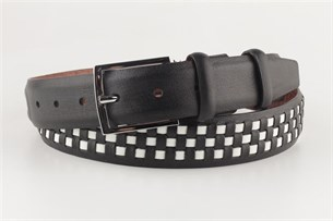 Ремень SEVARO sk3.5-0001 черно-белый - фото 6723
