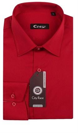 Приталенная красная рубашка CITY RACE 1122-106 - фото 7037