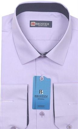 Рубашка из модала и хлопка Brostem 4708-HZ полуприталенная - фото 7265