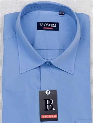 Прямая рубашка с коротким рукавом BROSTEM CVC23As - фото 7466