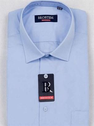 Мужская рубашка большого размера с коротким рукавом BROSTEM CVC92s - фото 7572