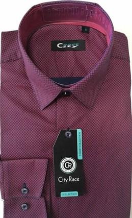 Мужская рубашка CITY RACE BROSTEM приталенная  CR112 Z - фото 7752