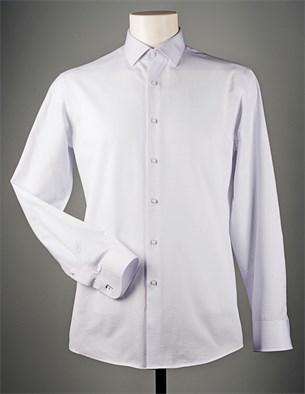 Белая жаккардовая рубашка VESTER 70714S-14 - фото 8197