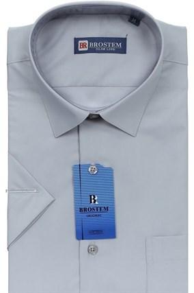 Полуприталенная рубашка с коротким рукавом BROSTEM 4707As - фото 8419