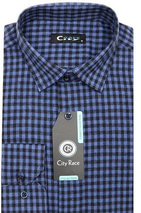 Фланель приталенная рубашка кашемир Brostem City Race KAC15028F-pr-Brostem - фото 8470