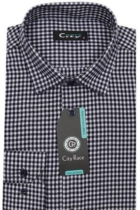 Приталенная рубашка с кашемиром City Race KAC2459 - фото 8476