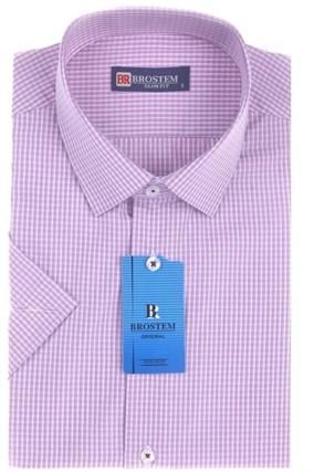 Большая 47(5XL) рубашка короткий рукав BROSTEM 8SG027-1sg - фото 8489