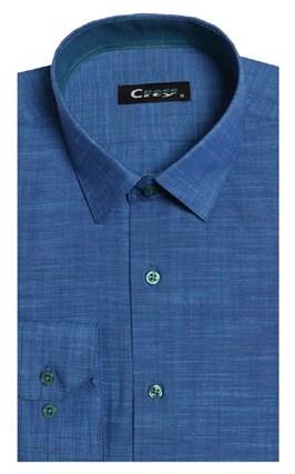Приталенная лен с хлопком мужская рубашка 8LCR8-5 CITY RACE BROSTEM - фото 8948