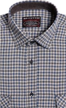 Большая фланелевая рубашка BROSTEM 8LG42+3g - фото 9095