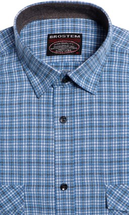 Большая фланелевая рубашка BROSTEM 8LG42+4g - фото 9097