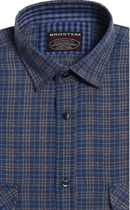 Мужская фланелевая рубашка BROSTEM KA15005(8-49-4) - фото 9116