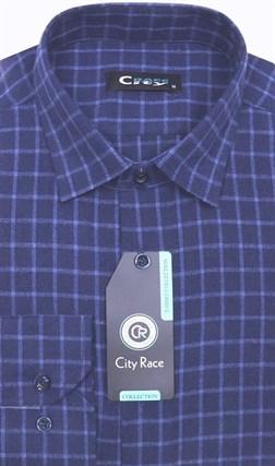 Приталенная кашемир рубашка City Race KAC15019D - фото 9117