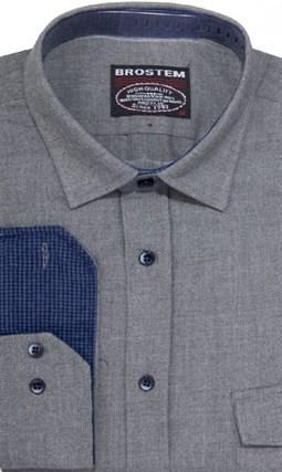 Фланелевая приталенная рубашка шерсть/хлопок Brostem 8LBR20+1 - фото 9118