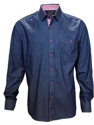 Джинсовая приталенная рубашка BROSTEM 8LBR65-1 - фото 9158