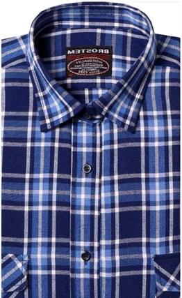 Фланелевая рубашка шерсть-хлопок BROSTEM 9LBR3-6(8-76-3) - фото 9174