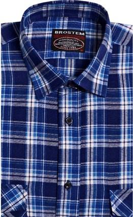 Фланелевая рубашка шерсть-хлопок BROSTEM 8LBR76-4 - фото 9176