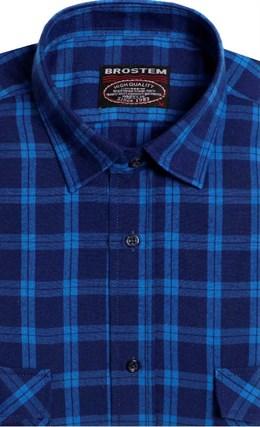 Фланелевая рубашка шерсть-хлопок BROSTEM KA7050(9LBR2-5) - фото 9178