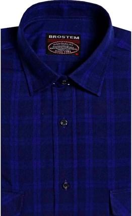 Фланелевая рубашка шерсть-хлопок BROSTEM KA7052 (9-2-7) - фото 9184