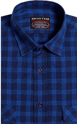 Фланелевая рубашка шерсть-хлопок BROSTEM 8LBR77-1(KA6052) - фото 9186