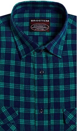 Фланелевая рубашка шерсть-хлопок BROSTEM KA6053(9LBR2-2) - фото 9194