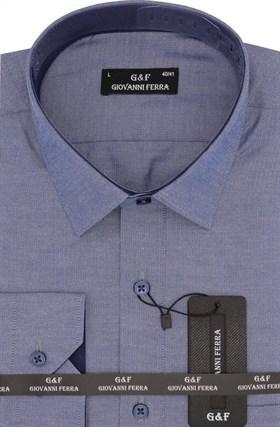 Мужская сорочка полуприталенная SER-6055-3 - фото 9321