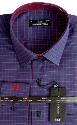 Мужская сорочка полуприталенная 4292-17 - фото 9346