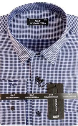 Мужская сорочка полуприталенная 4288-6 - фото 9350