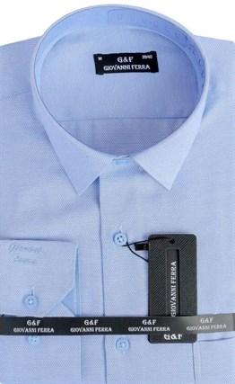 Мужская сорочка полуприталенная 6046-1 - фото 9352