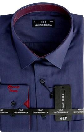 Мужская сорочка полуприталенная 6093-8 - фото 9360