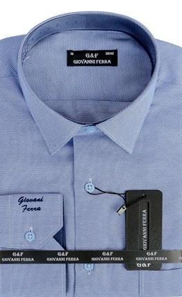 Мужская сорочка полуприталенная 6046-2 - фото 9364