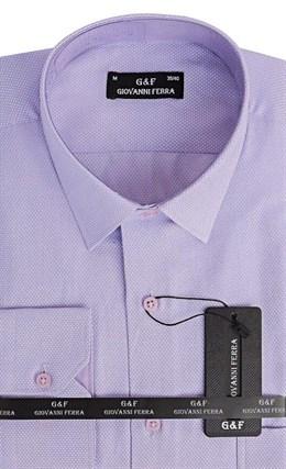 Мужская сорочка полуприталенная 6088-18 - фото 9367