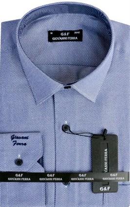Мужская сорочка полуприталенная 6088-33 - фото 9368