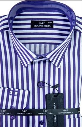 Мужская сорочка полуприталенная 1140 - фото 9424