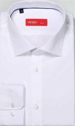 Белая приталенная сорочка VESTER 16318-13sp-20 - фото 9621