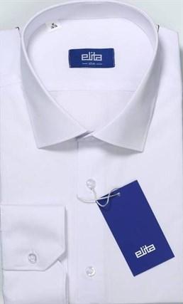 Приталенная белая сорочка ELITE 68412-00 - фото 9662