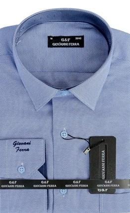 Мужская сорочка полуприталенная 6046-2 - фото 9700