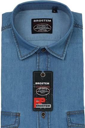 Большая джинсовая рубашка BROSTEM LAN-2g - фото 9779