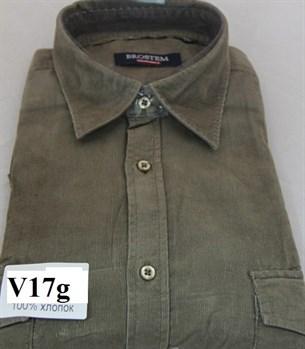 Вельветовая большая рубашка хлопок Brostem V17g - фото 9804