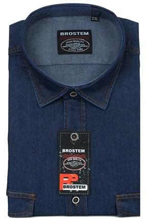 Большая джинсовая рубашка LAN-1-G - фото 9818