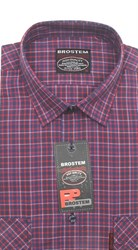100% хлопок рубашка мужская SH670-1g BROSTEM