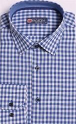 Большая рубашка лен + хлопок 8LG9-1g BROSTEM