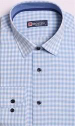 Большая рубашка лен + хлопок 8LG9-2g BROSTEM
