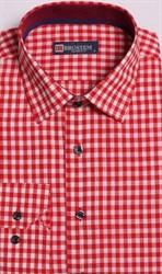 Большая оранжевая рубашка со льном 8LG9-5g BROSTEM
