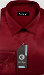 Приталенная красная рубашка CITY RACE 6029-5