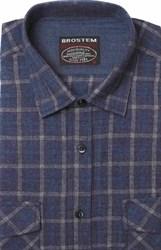 Полуприталенная фланелевая рубашка с шерстью KA9L5-6
