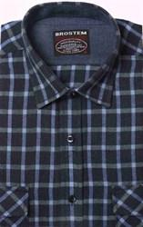 Полуприталенная фланелевая рубашка с шерстью KA9L5-5