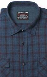 Полуприталенная фланелевая рубашка с шерстью KA9L5-7